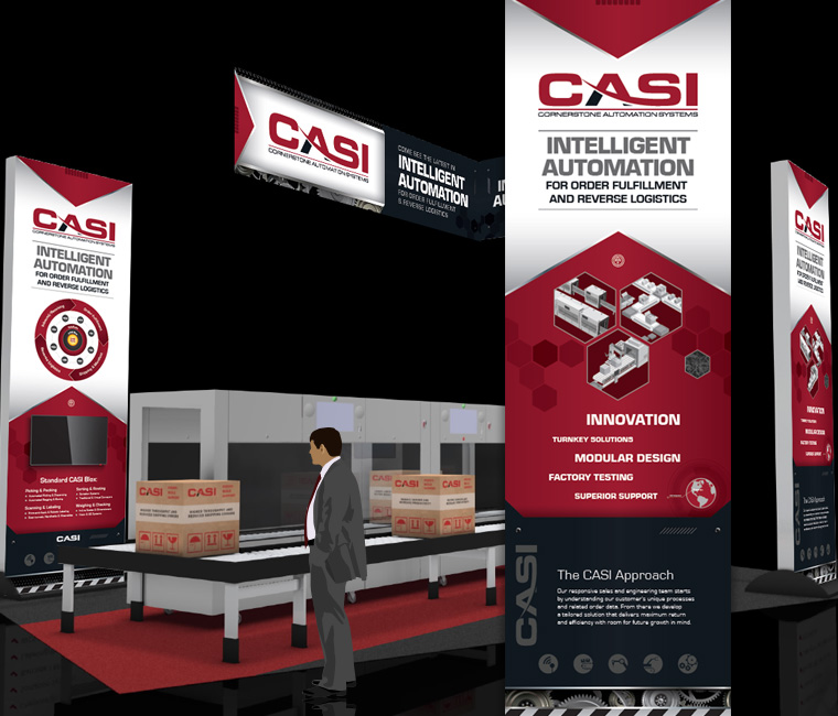 Tradeshow Graphics Booth Display Banner Design for CASI