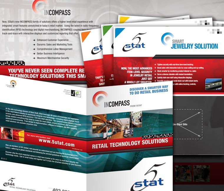5Stat Print Marketing Material Design