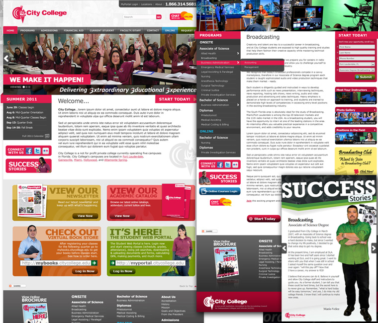 City College Website Design and Development