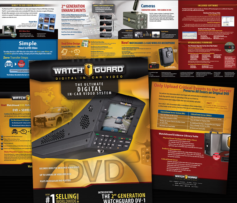 WatchGuard Video Print Marketing Materials Design